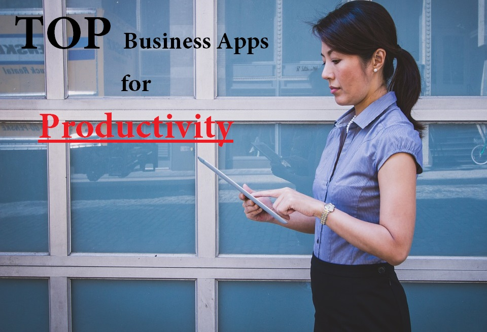 Girl using business productivity app